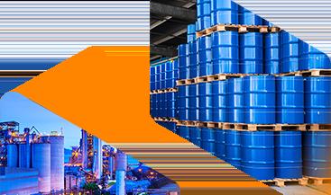 Imagen del banner de Distribución de productos químicos básicos y a granel