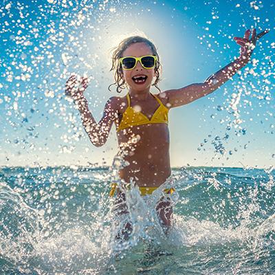 Crème solaire résistante à l'eau haute protection FPS(50+)*